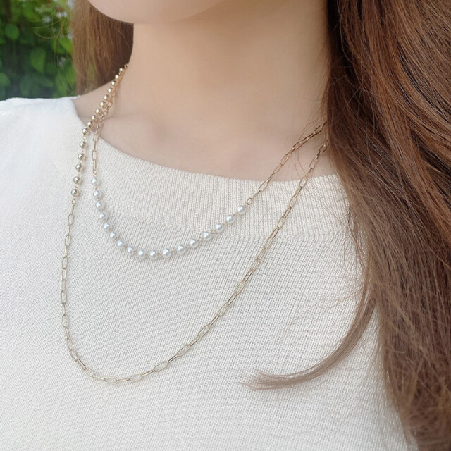 Ball×Chain Necklace